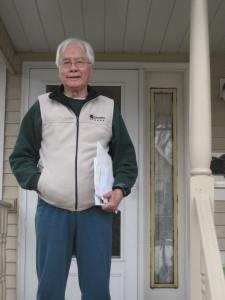 Cung Trầm Tưởng trước nhà, St. Paul, MN. photo by PNH, 11.2008