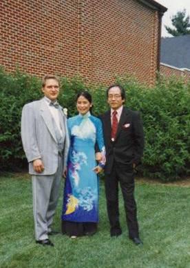 Eddie, LaiHồng và Võ Đình. Đám cưới Eddie và Mary Jo, 1994, Maryland