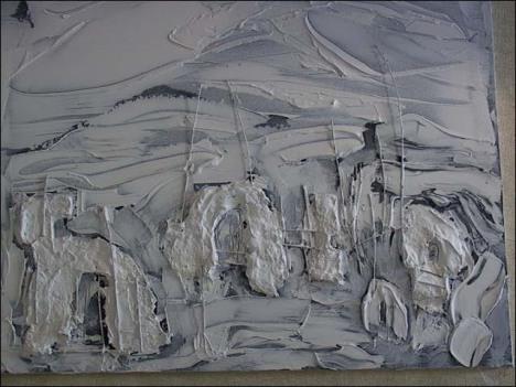 Nhà 5. Nguyễn Danh Bằng (sơn dầu trên các-tông)