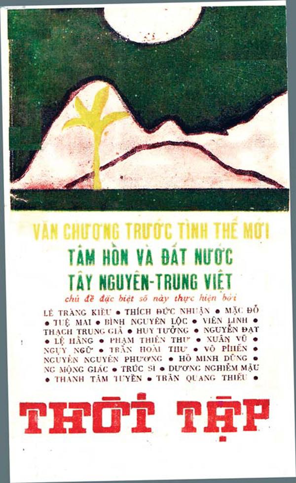 Trang bìa một số tạp chí Thời Tập